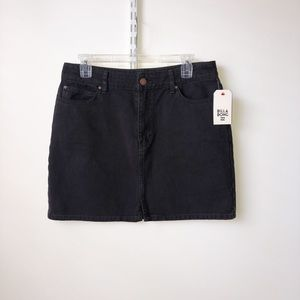 Billabong black denim mini skirt